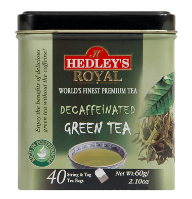 Hedley`s Royal Decaffeinated Green Tea