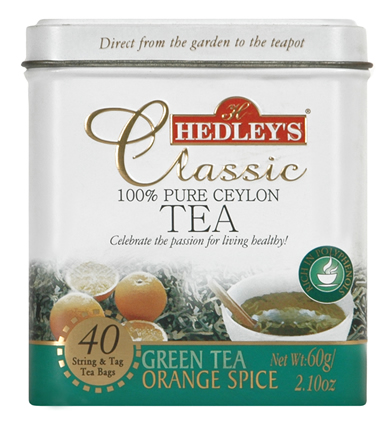 Hedley`s Classic Green Tea Orange Spice